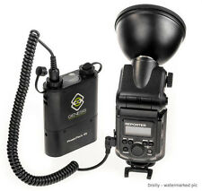 GENESIS REPORTER 180 FLASH PORTATILE SPEEDLIGHT CON BATTERY PACK 180W
