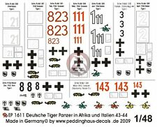 Peddinghaus 1/48 Tiger Tank Markings Tunisia N. Africa & Italy (1943-1944) 1611
