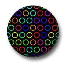 Circles 1 Inch / 25mm Pin Button Badge Cute Design Pattern Retro Hoops Fun Indie