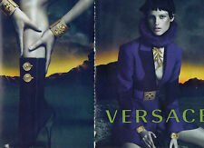 Publicité Advertising 2014  (2 PAGES)  VERSACE  pret à porter collection mode
