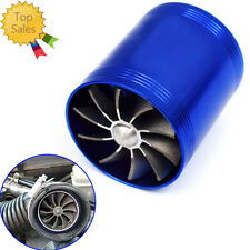 Double Turbine Turbo Air Intake Gas Fuel Saver Fan Supercharger Hot-selling
