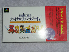 Final Fantasy IV 4 Easy Type Japanese Jap SNES Super Famicom