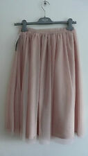 BNWT current ZARA pale pink TULLE net SKIRT size s