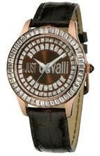 BRAND NEW WOMENS ROBERTO JUST CAVALLI (R7251169055) ICE LEATHER STRAP WATCH