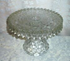 American Fostoria Footed Pedestal 10 Inch Cake Stand with Rum Well