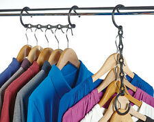 Pack of 4 Space Saving Hangers Wardrobe Shirts Tshirts Trousers Bedroom Gadget