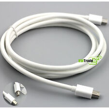 Mini Display Port DP 1.2 to Mini DP 1.2 Thunderbolt adapter Cable White 6ft