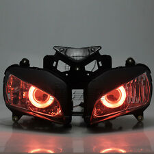Custom HID Projector Assembled Red Angel Eyes Headlamp For Honda CBR1000RR 04-07