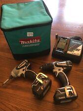 Makita 18v Cordless Drill Driver And Impact Set Charger And 2 Batteries