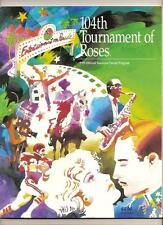 1993 tournament of Roses Parade program rose bowl