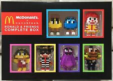 McDonalds X Nanoblock RONALD & FRIENDS MALAYSIA COLLECTOR'S COMPLETE SET 7 TOYS