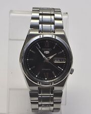 Seiko 5 Black Dial 21 Jewels Skeleton Back Automatic SS Watch 7S26-02V4
