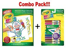 Crayola Color Wonder 10 Mess-Free Mini Markers x Drawing Paper-30 Sheets