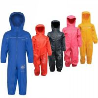 RRP £30 REGATTA CHILDRENS PUDDLE RAIN SUIT WATERPROOF ALL IN ONE KIDS BOYS GIRLS