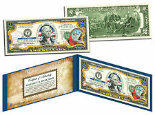 NORTH CAROLINA Statehood $2 Two-Dollar Colorized US Bill NC State *Legal Tender*