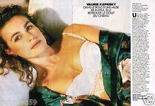 Coupure de Presse Clipping 1991 (2 pages) Valerie Kaprisky