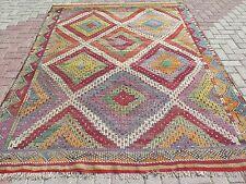 """Anatolia Antalya Nomads Wool Kilim 78,3"""" x 100,7"""" Area Rug Kelim Carpet"""