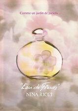 PUBLICITE  1981   NINA RICCI   parfum EAU DE FLEURS
