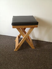 wooden folding stool portable stool market stool sitting stool therapist stool