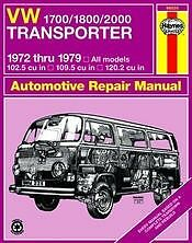 VW Transporter 1700 1800 2000 Haynes Repair Manual NEW Owners Book Service 72-79