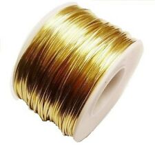 RED BRASS ROUND WIRE 16 GA  92 FT. 10 OZ  SOFT  SOLID WIRE WRAPPING ON SPOOL