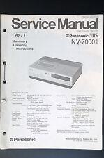 PANASONIC NV-7000 Vol.1-Vol.4 Original Service-Manual/Anleitung/Schaltplan!