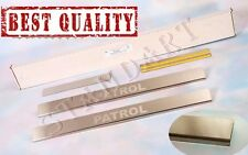 Nissan PATROL Y61 1997-2010 Stainless Steel Door Sill Guard Scuff Protectors