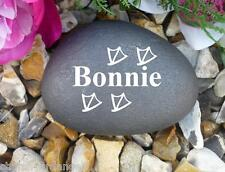 Personalised Pebble (Stone Effect) - Walking Duck Feet - Perfect in your garden