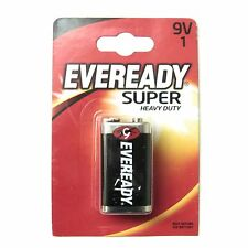 9V Battery Eveready Super Heavy Duty Zinc 9V Batteries
