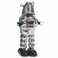 Schylling MS430C Tin Plate - Wind up Clockwork - Mechanical Planet Robot Chrome