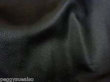 "Leather 8""x10"" RICH Black Buffalo embossed Cowhide 4oz / 1.6mm PeggySueAlso NEW"