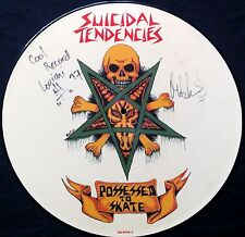 """SUICIDAL TENDENCIES - Signed Possessed To Skate 12"""" pic. disc - RARE!!"""