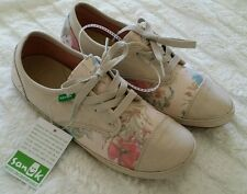 NWT! SANUK Women's SOCK HOP GARDENIA SNEAKER Shoes Natural Floral $60 Sz 7 EU 38