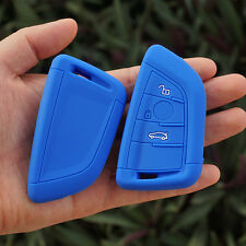 Blue silicone car key cover case for bmw X5 X6 new remote control protector