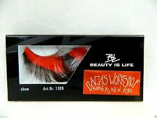 New Lady Gaga's Workshop New York Women's Red & Brown Long False Fake Eyelashes