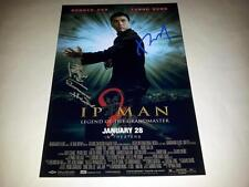 "YIP MAN 2 CAST X2 PP SIGNED POSTER 12""X8"" DONNIE YEN SAMMO HUNG IP"