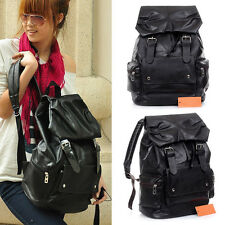 Women Men Unisex Extra Large Backpack PU leather School Satchel Travel Bag
