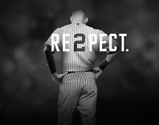 Derek Jeter Respect Photo print poster High Quality 8.5 by 11 inches NY Yankees