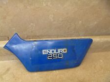 Yamaha 250 DT DT250-D ENDURO Used Left Battery Side Cover Panel 1977 YB117