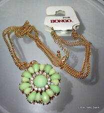LTB: BONGO LONG GREEN PENDANT NECKLACE