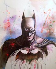 BATMAN WATERCOLOUR ART IMAGE  A4 Poster Laminated Gloss Print