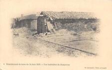 CPA ALGERIE TREMBLEMENT DE TERRE 24 JUIN 1910 UNE HABITATION DE MASQUERAY (dos n