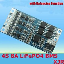 4S 8A LiFePO4 battery BMS 12v 12.8v cell protection AND balance charged