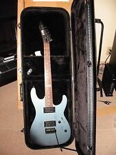 LTD M-50 Rarely Used Metalic Light Blue Guitar With Brand New ChromaCase.