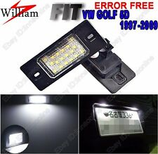 2pcs White LED License Number Plate Light For VW GOLF Variant MK4 MK5 1997-2009
