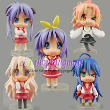 5pcs * Lucky Star Konata Izumi PVC Anime Action Figure Doll Set Of 5 pcs, New