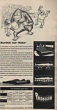 """PROFILIA-Matratzen, Werbung / Anzeige 1960, """"Zurück zur Natur"""""""
