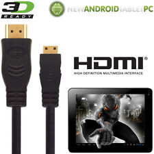 NATPC M009S 7 Capacitive, Superpad Android Tablet HDMI Mini to HDMI TV 5m Cable