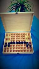 Essential Oil Wooden Box Organizer Wood Storage Case Holds 68 Oils Aromatherapy