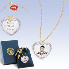 Sweetheart Betty Boop Necklace Pendant  Bradford Exchange